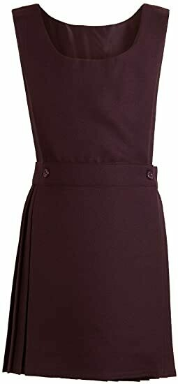 Bib Top Pinafore in Maroon (From Age 4-5)