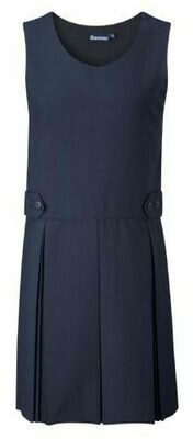 Box Pleat Pinafore In Navy (From Age 3-4)