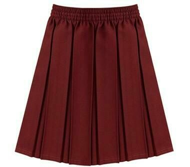 Primary School 'Knife Pleat' Skirt in Maroon (From Age 3-4)