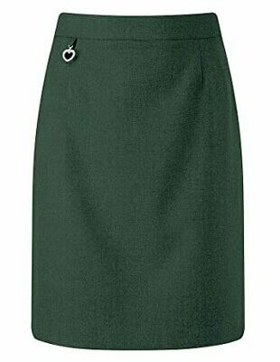 Primary School 'Amber A-Line' Pleated Skirt in Bottle Green