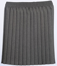 Primary School 'Knife Pleat' Skirt in Grey (From Age 3-4)