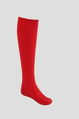 Girls Knee High Socks by Pex in Red (2 Pair Packs) 'Best Seller'