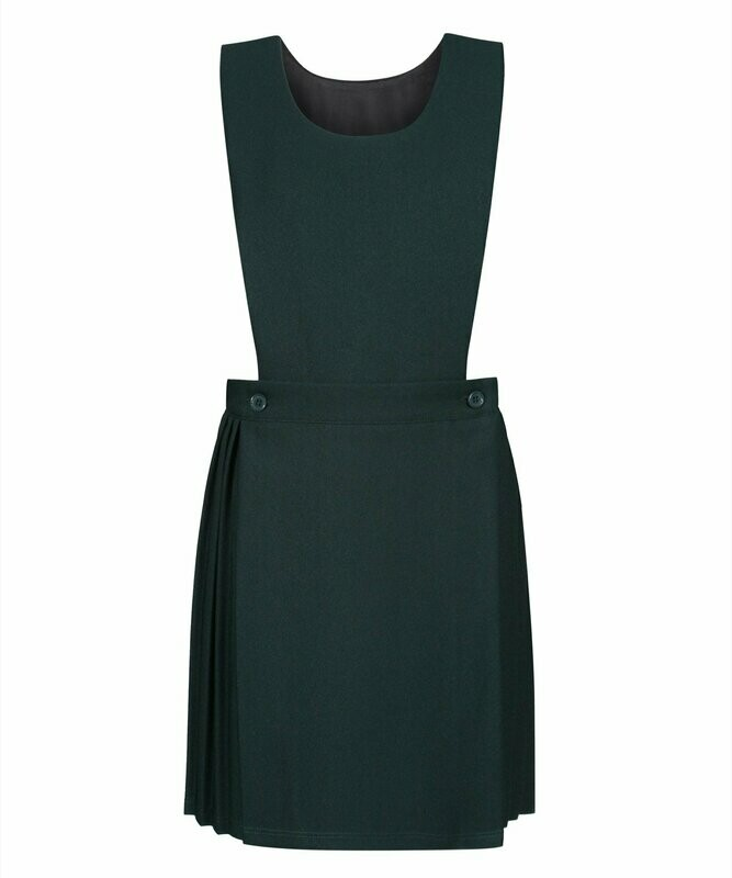 Bib Top Pinafore in Bottle Green (From Age 4-5)