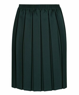 Primary School 'Box Pleat' Skirt in Bottle Green (From Age 3-4)