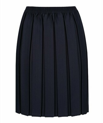 Primary School 'Box Pleat' Skirt in Navy (From Age 3-4)
