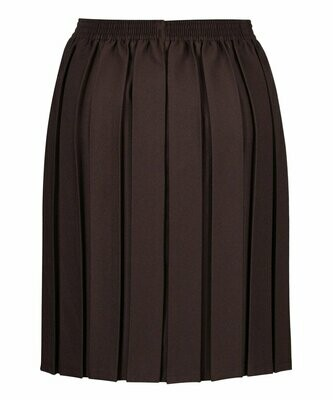Primary School 'Box Pleat' Skirt in Brown (From Age 3-4)