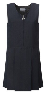 'Lynton' Pleat Pinafore in Navy Blue
