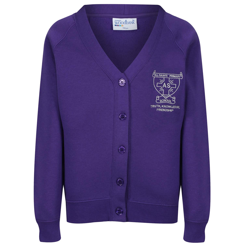 All Saints Primary Sweatshirt Cardigan