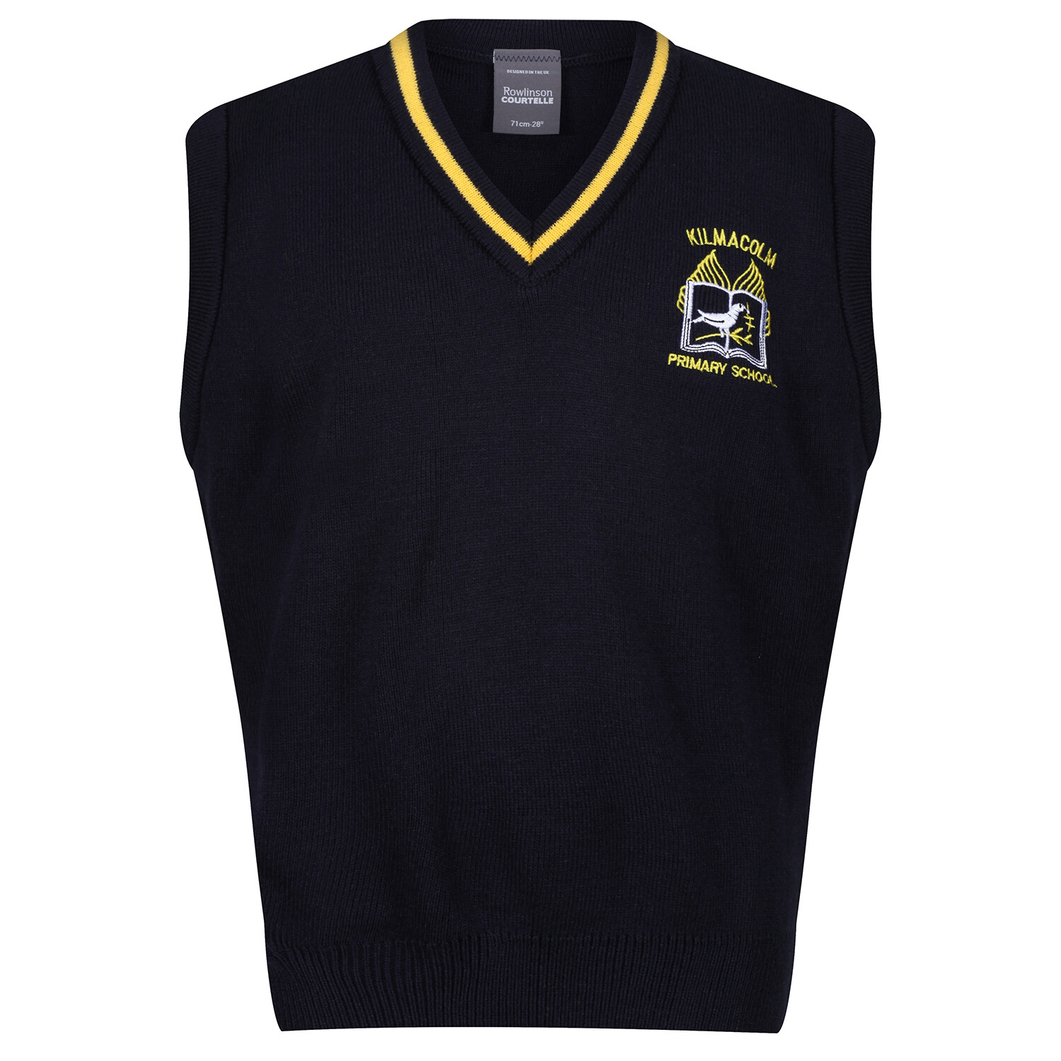 Kilmacolm Primary Knitted Tank Top with stripe