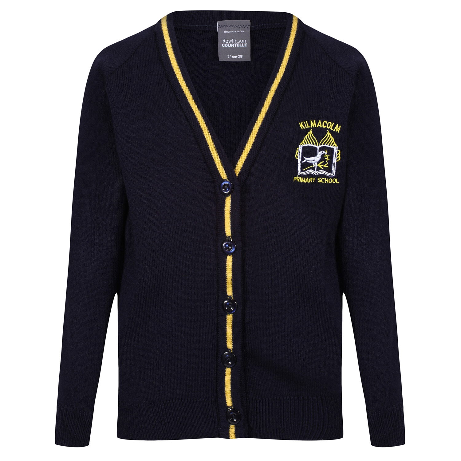 Kilmacolm Primary Knitted Cardigan with stripe