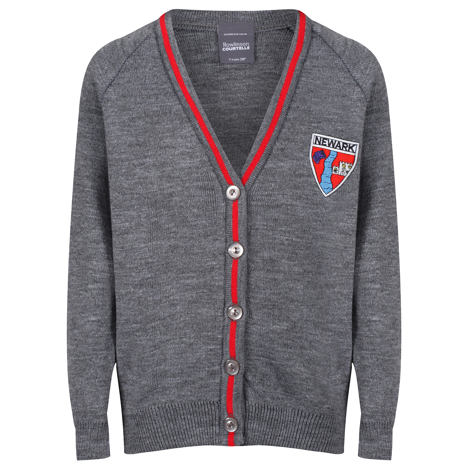 Newark Primary Knitted Cardigan with stripe