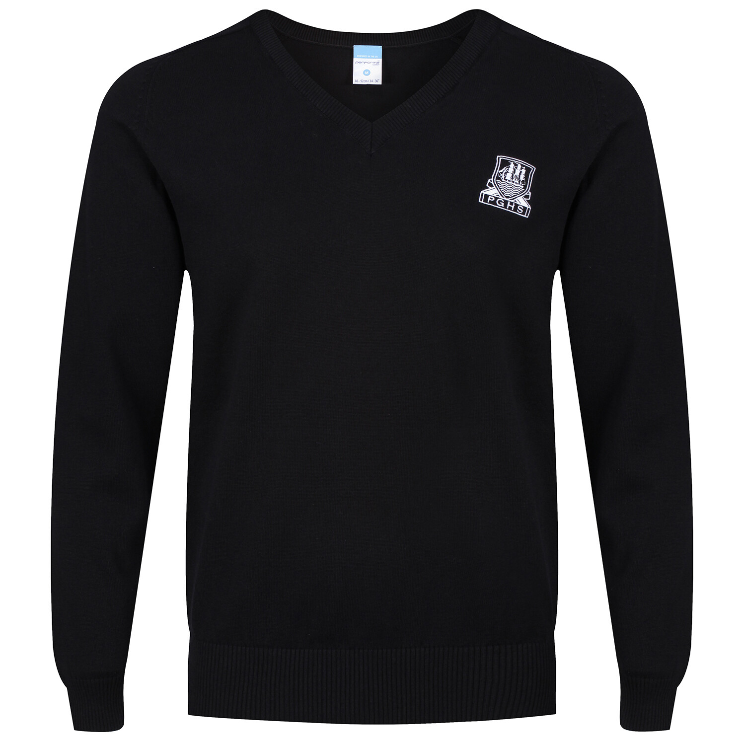 Port Glasgow High Knitted V-neck