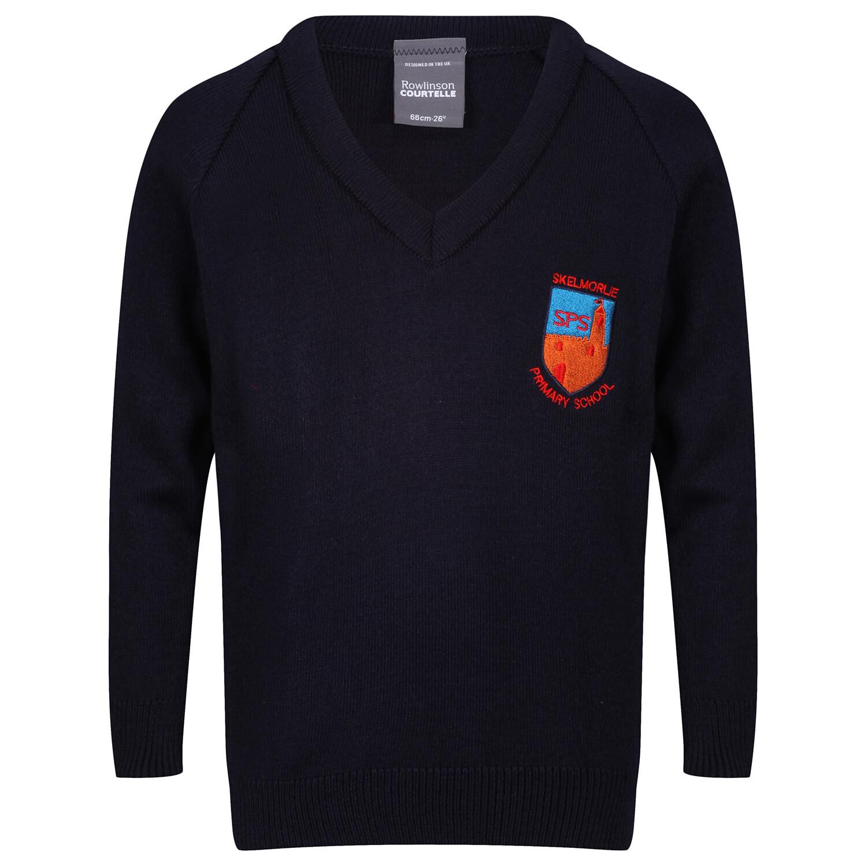 Skelmorlie Primary Knitted V-neck (choice of colour)