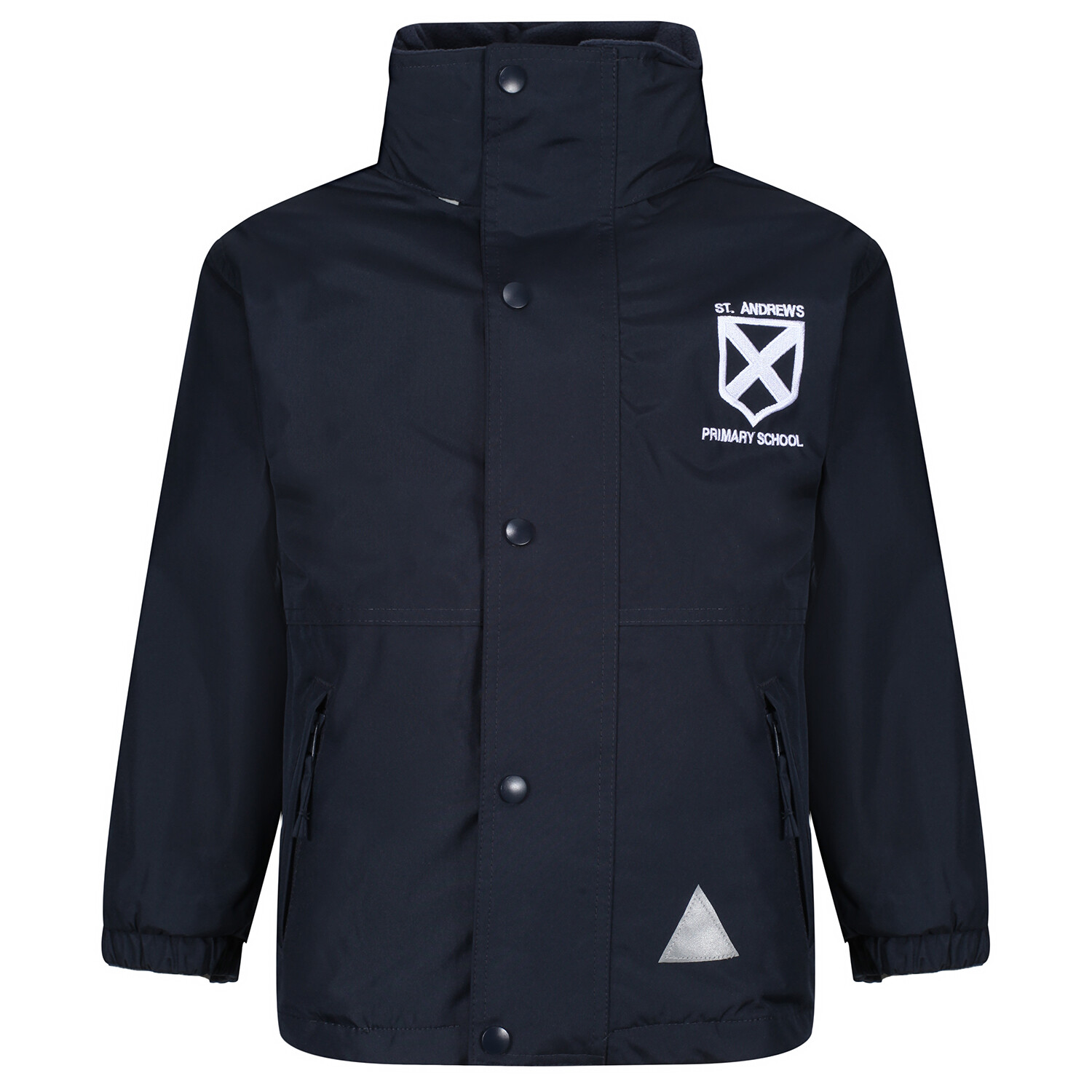St Andrew's Primary Heavy Rain Jacket (Fleece lined)