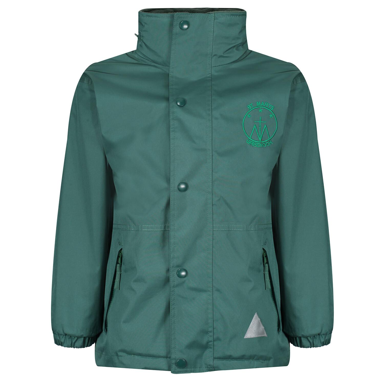 St Mary's Primary Heavy Rain Jacket (Fleece lined)