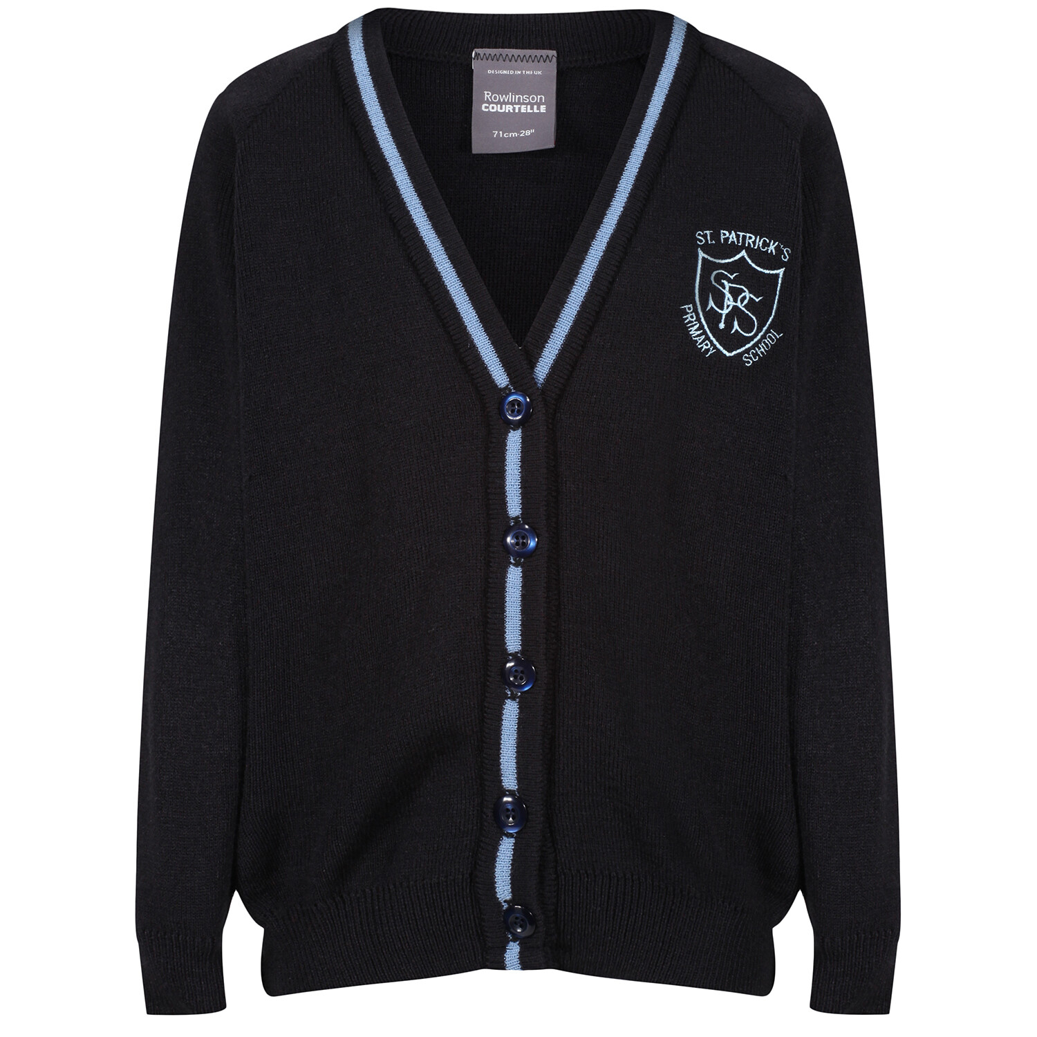 St Patrick's Primary Knitted Cardigan with stripe
