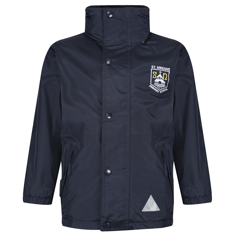 St Ninian's Primary Heavy Rain Jacket (Fleece lined)