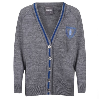Wemyss Bay Primary Knitted Cardigan with stripe