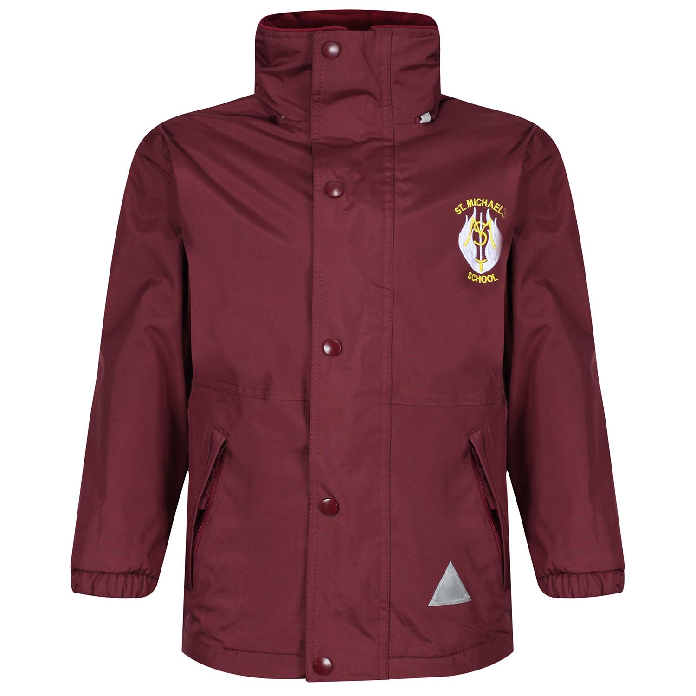 St Michael's Primary Heavy Rain Jacket (Fleece lined)