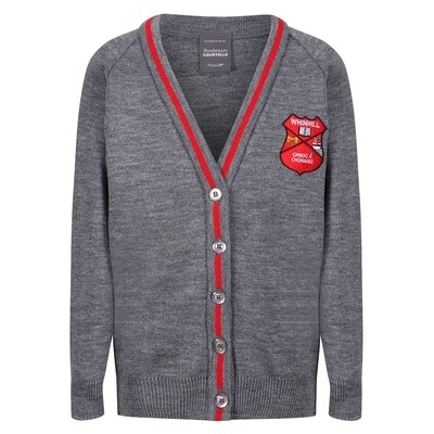 Whinhill Primary Knitted Cardigan with stripe