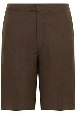 'Bermuda' School Shorts by Trutex in Brown (Age 4-13)