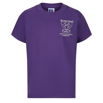All Saints Primary PE T-Shirt (with school badge)