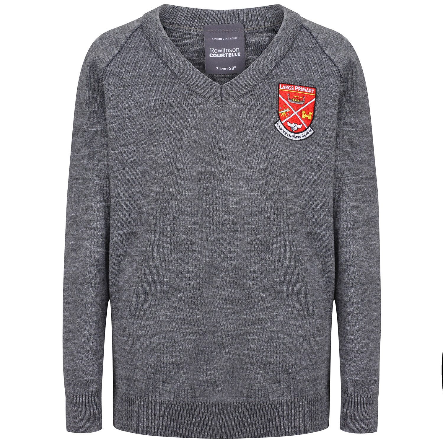 Largs Primary Knitted V-neck (choice of colour)