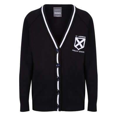 St Andrew's Primary Knitted Cardigan with stripe
