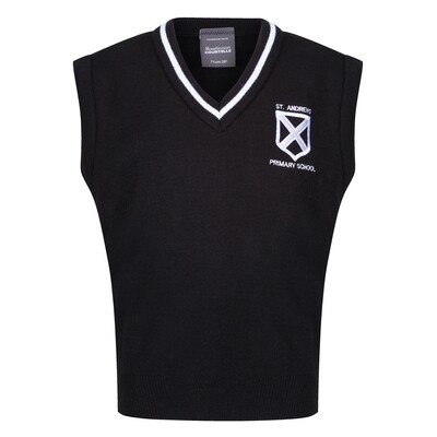 St Andrew's Primary Knitted Tank Top with stripe