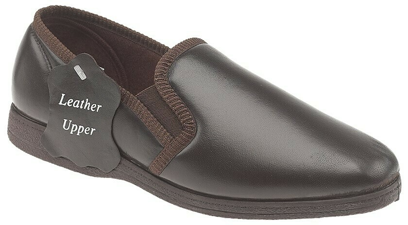 'Leather' Twin Gusset Slipper (RCSMS414B)