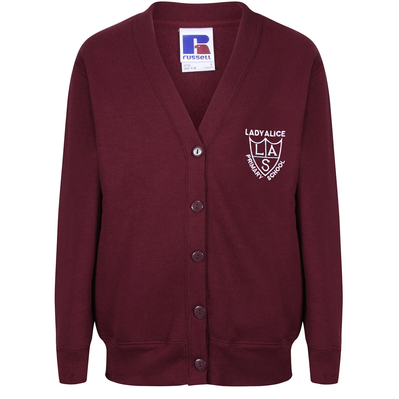 Lady Alice Primary Sweatshirt Cardigan