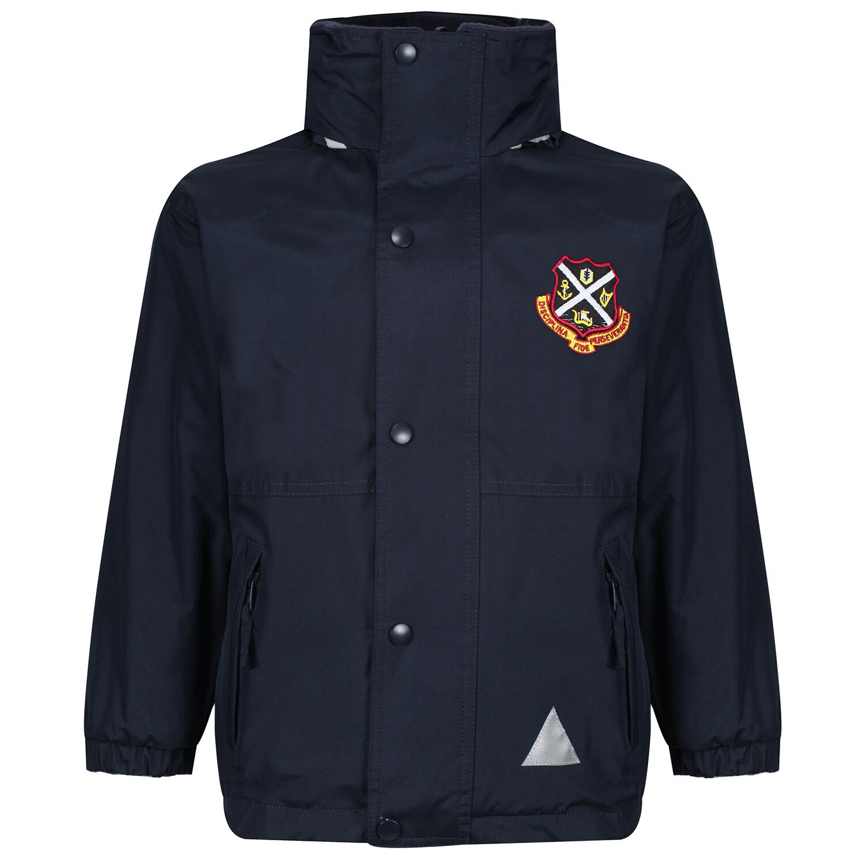 Dunoon Primary Heavy Rain Jacket (Fleece lined)