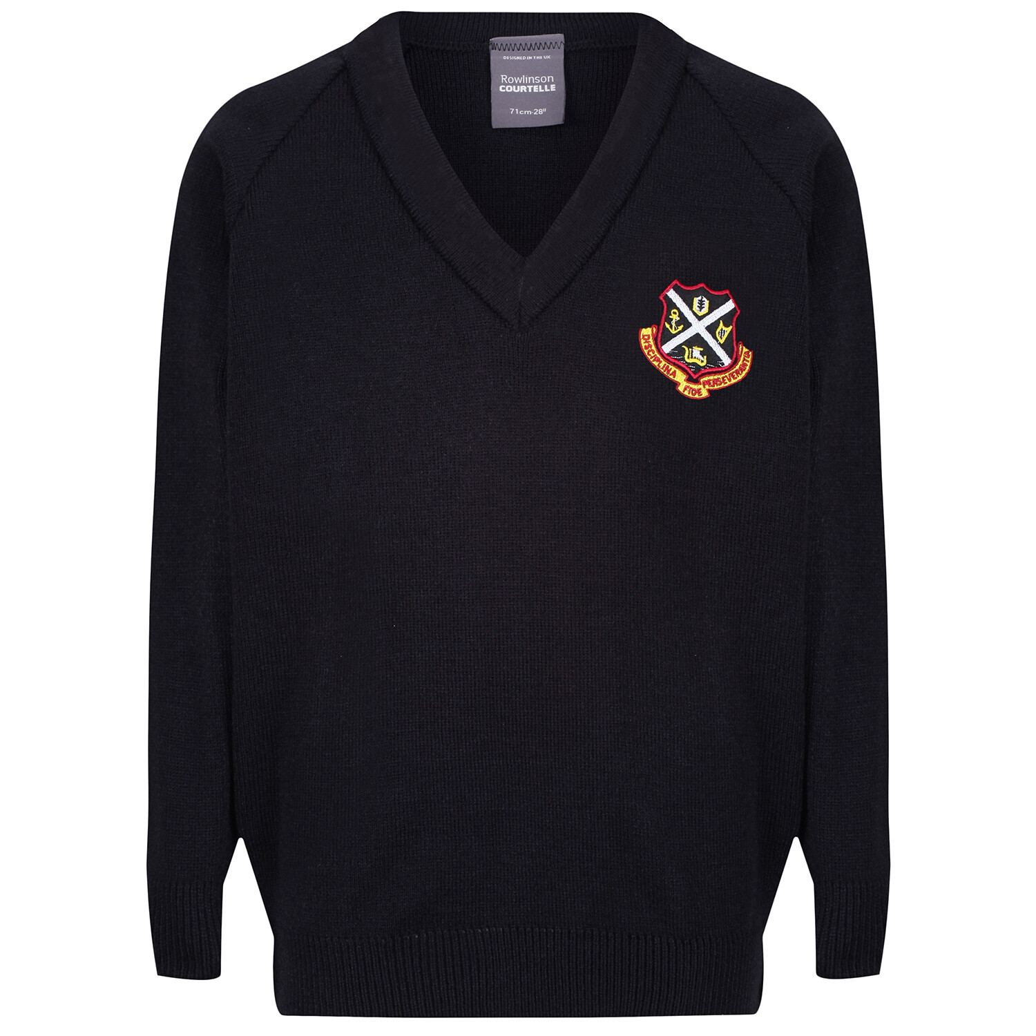 Dunoon Primary Knitted V-neck (choice of colour)