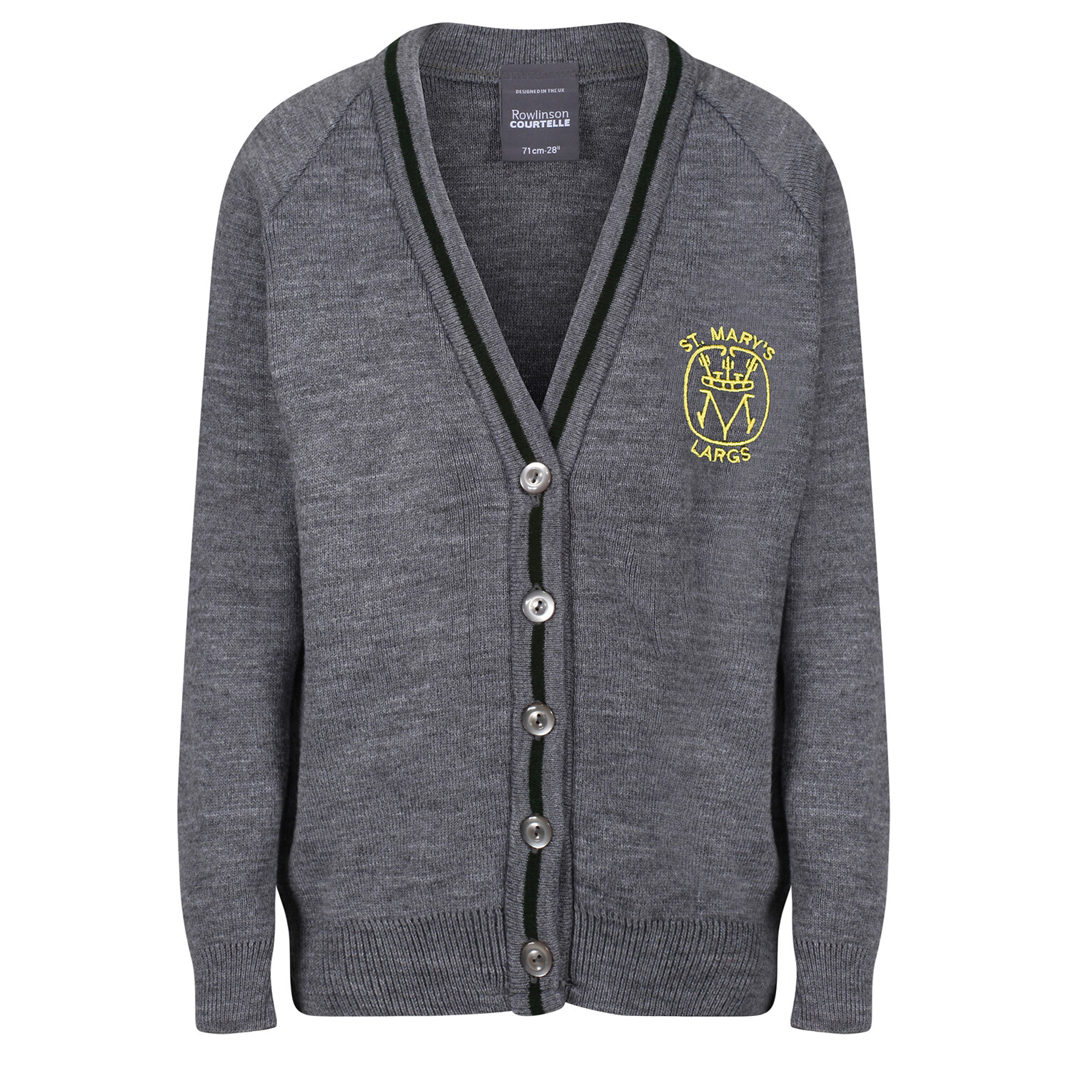 St Mary's Primary (Largs) Primary Knitted Cardigan with stripe