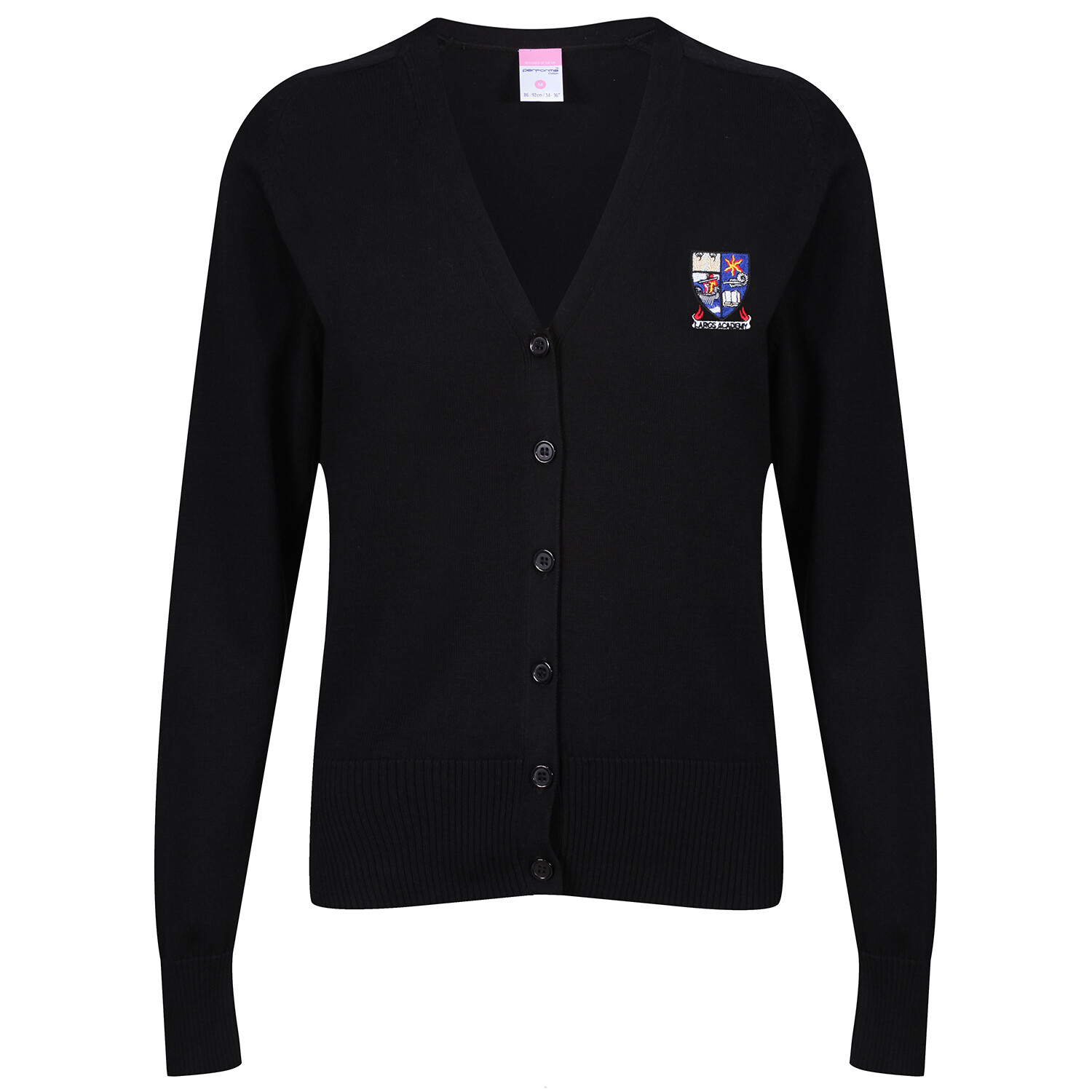Largs Academy Girls Knitted Cardigan