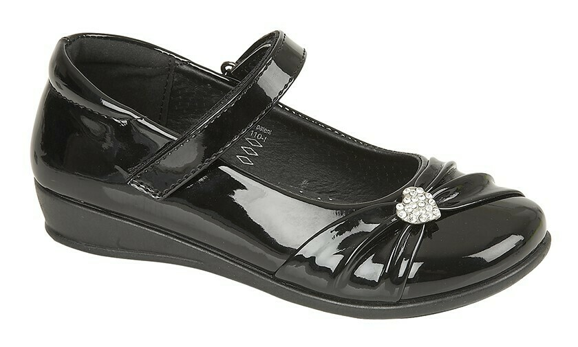 Bar Diamante Shoe in Black Patent (Size 8 to 2) (RCSC794AP)