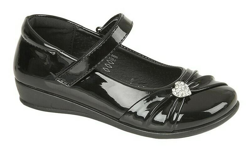 Bar Diamante Shoe in Black Patent (Size 8 to 2) (RCSC794AP)
