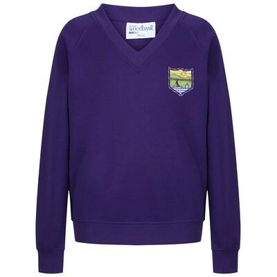 Craigmarloch Primary Sweatshirt (V-Neck) in Purple