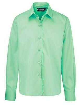 Long Sleeve Blouse in Green for Girls by Banner