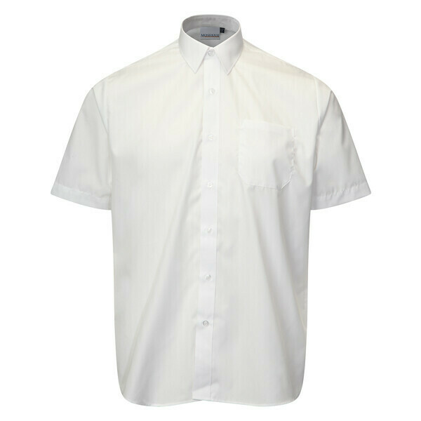 Short Sleeve Shirt in White for Boys by Banner