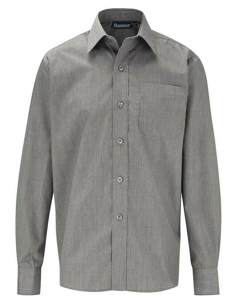Long Sleeve Shirt in Grey for Boys by Banner