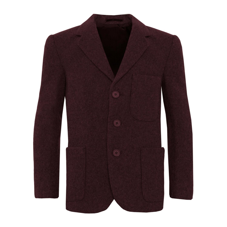 Maroon Wool Blazer (Unisex)