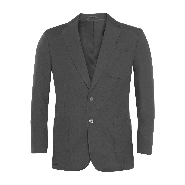 Grey Polyester Blazer for Girls