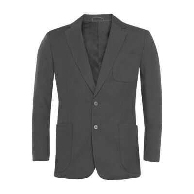Grey Polyester Blazer for Boys