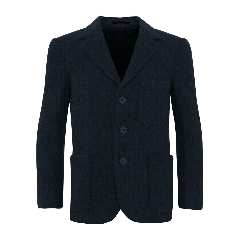 Navy Wool Blazer (Unisex)
