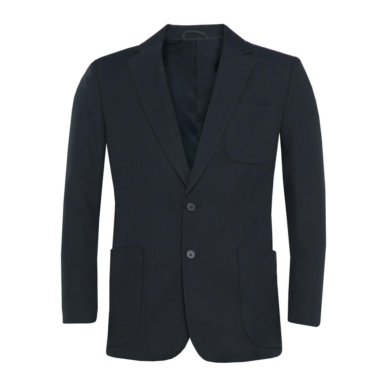 Navy Polyester Blazer for Boys