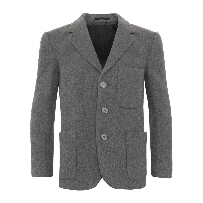 Grey Wool Blazer (Unisex)
