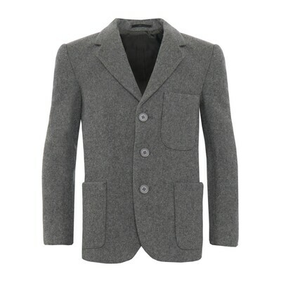 Grey Wool Blazer (Unisex)