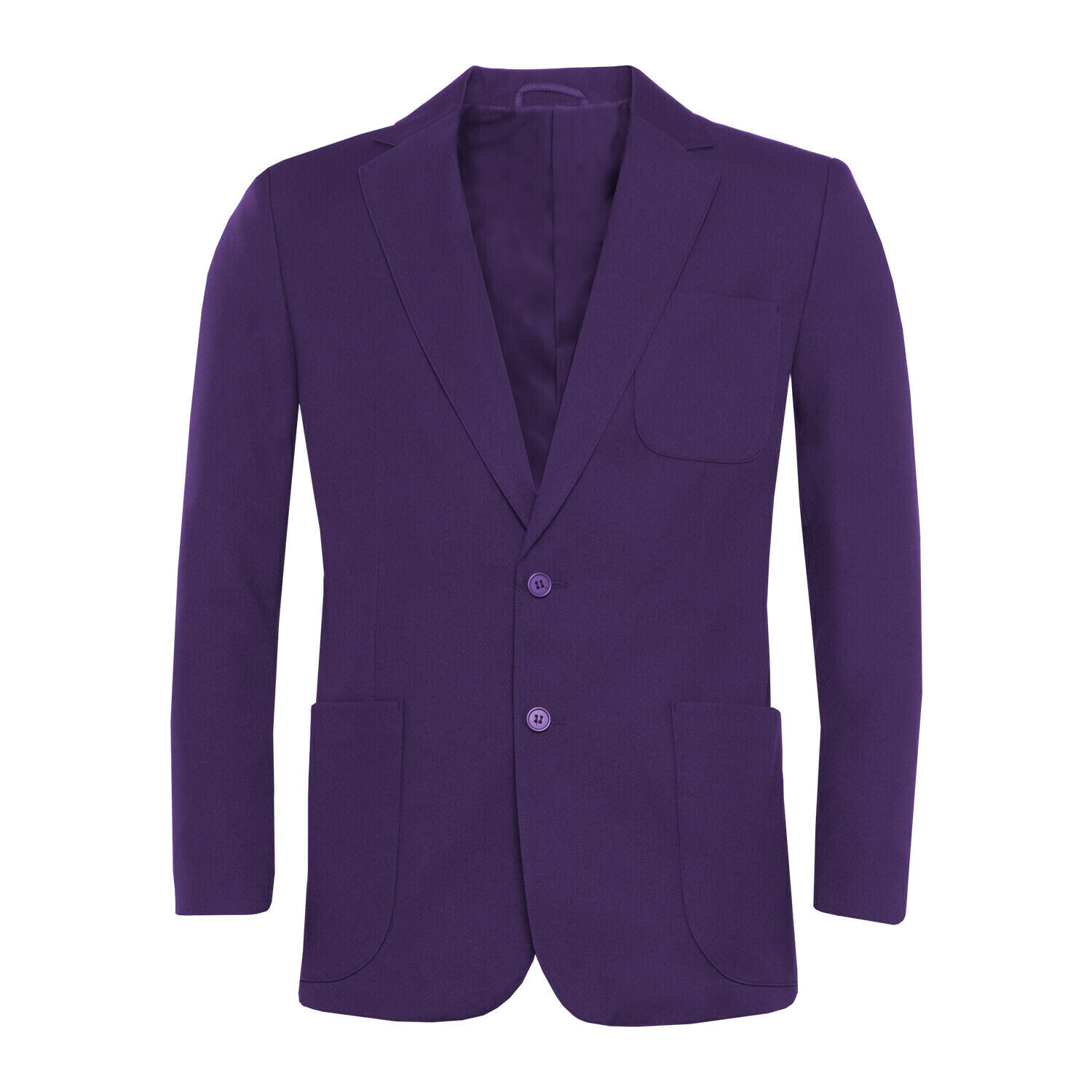 Purple Polyester Blazer for Boys