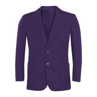 Purple Polyester Blazer for Girls
